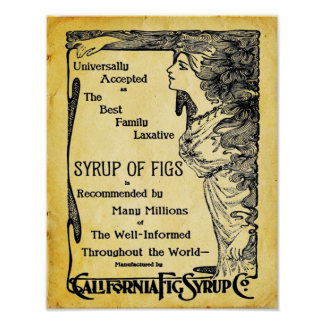 Vintage Laxative Poster