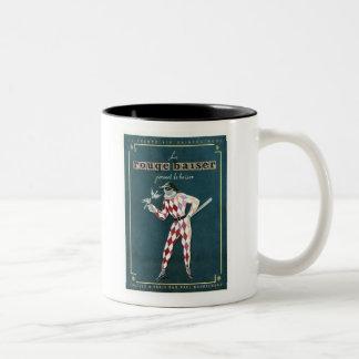 Vintage Le Rouge Baiser Ad Two-Tone Mug