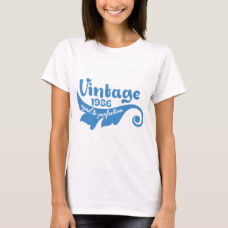 Vintage LEAF aged to perfection 1986 blue T-Shirt