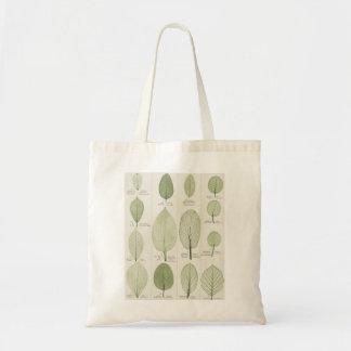 Vintage Leaf Illustrations Budget Tote Bag