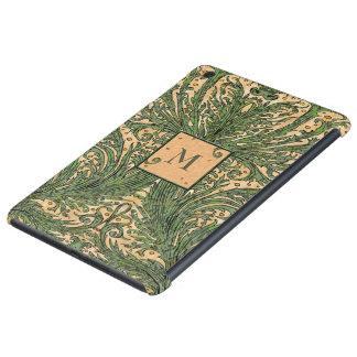 Vintage Leaf Pattern Monogram iPad Case