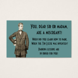 Funny laugh business cards business card printing zazzle vintage learn how to park business card colourmoves