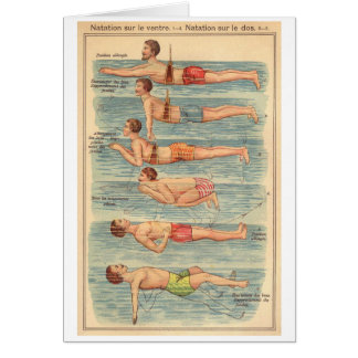Vintage - Learning to Swim, Card