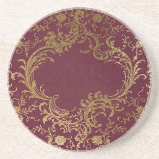 Vintage Leather Bound Book Coaster