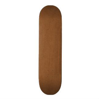 Vintage Leather Brown Antique Paper Template Blank Skate Boards