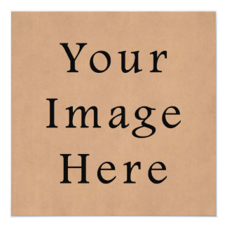 Vintage Leather Brown Parchment Paper Background 13 Cm X 13 Cm Square Invitation Card