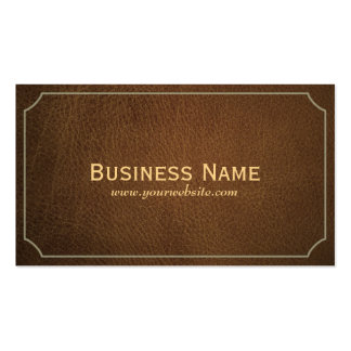 Vintage Leather Chiropractor Business Card
