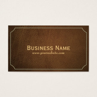 Vintage Leather Investigator Business Card