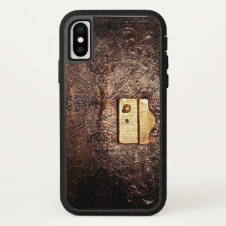 Vintage leather iPhone x case