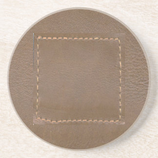 Vintage LEATHER Look Print Finish : Template Coaster