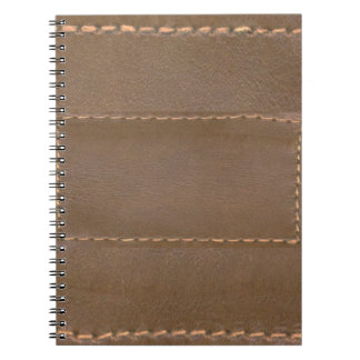 Vintage LEATHER Look Print Finish : Template Spiral Note Books