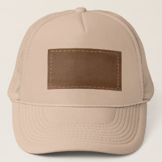 Vintage LEATHER Look Print Finish : Template Trucker Hat