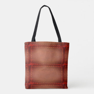 Vintage Leather Stitch finish look Tote Bag