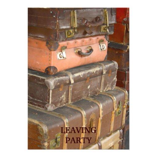 Vintage Leather Suitcases Invitation