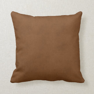 Vintage Leather Tanned Brown Parchment Paper Templ Cushion