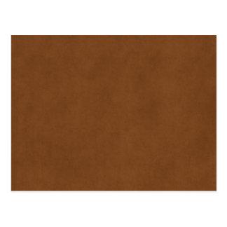 Vintage Leather Tanned Brown Parchment Paper Templ Postcard