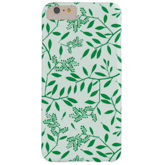 Vintage leaves, plant in green color barely there iPhone 6 plus case