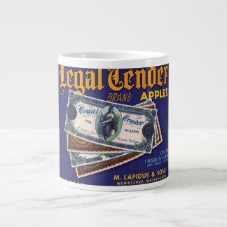Vintage Legal Tender Apples Fruit Crate Label Jumbo Mug