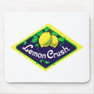 Vintage Lemon Crush Label Mouse Pad