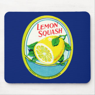 Vintage Lemon Squash Label Mouse Pad