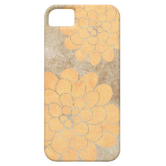 Vintage Lemon Yellow Dahlia Floral Wedding Case For The iPhone 5