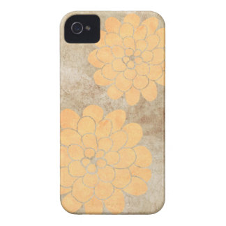 Vintage Lemon Yellow Dahlia Floral Wedding iPhone 4 Cases