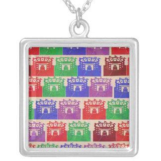 Vintage LEONARDO Collection by Navin Joshi Square Pendant Necklace