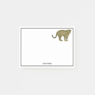 Vintage Leopard Cheetah Spotted Cat Drawing Post-it Notes