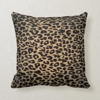 Vintage Leopard Print Skin Fur Throw Cushion
