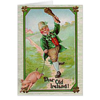 vintage leprechaun card
