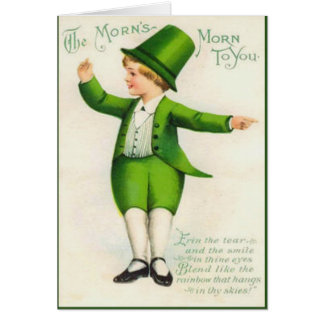 Vintage Leprechaun St Patrick's Day Card