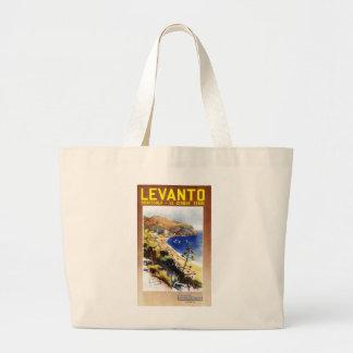 Vintage Levanto Genova Italy Tourism Large Tote Bag