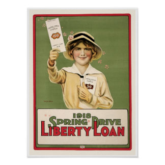 Vintage Liberty Bond World War One Poster