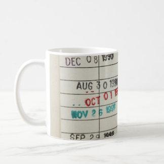 Vintage Library Due Date Cards Basic White Mug