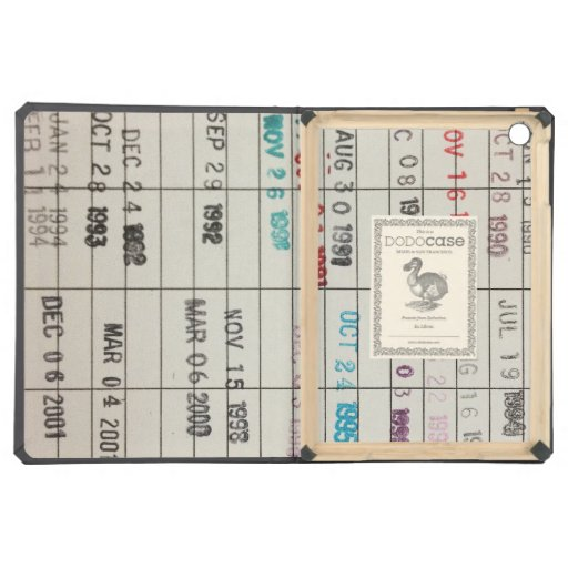 Vintage Library Due Date Cards iPad Air Cover