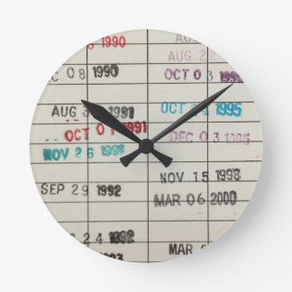 Vintage Library Due Date Cards Clocks