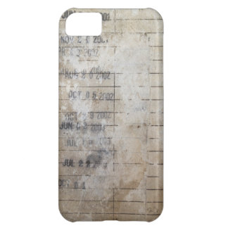 Vintage Library Due Date Cards iPhone 5C Case