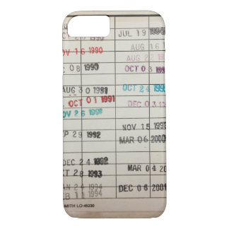 Vintage Library Due Date Cards iPhone 7 Case