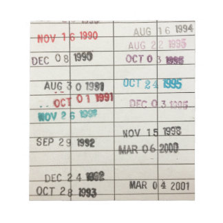 Vintage Library Due Date Cards Memo Note Pads