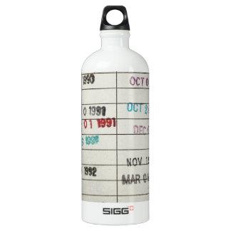 Vintage Library Due Date Cards SIGG Traveller 1.0L Water Bottle