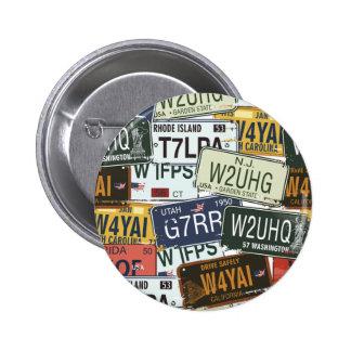 Vintage License Plates Pin