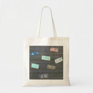 Vintage License Plates Budget Tote Bag