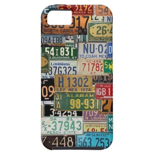 Vintage License Plates iPhone 5 Covers