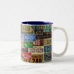 Vintage License Plates Coffee Mugs