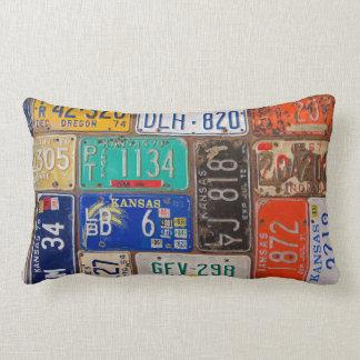 Vintage License Plates Cushion