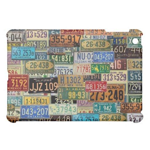 Vintage License Plates iPad Mini Cases