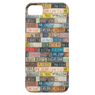 Vintage License Plates iPhone 5 Cover