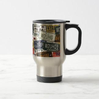 Vintage License Plates Mug