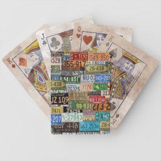 Vintage License Plates Card Decks