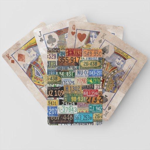 Vintage License Plates Bicycle Card Decks
